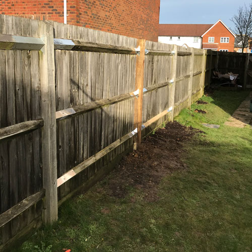 Fence repairs by Whitechappell Property Maintenance